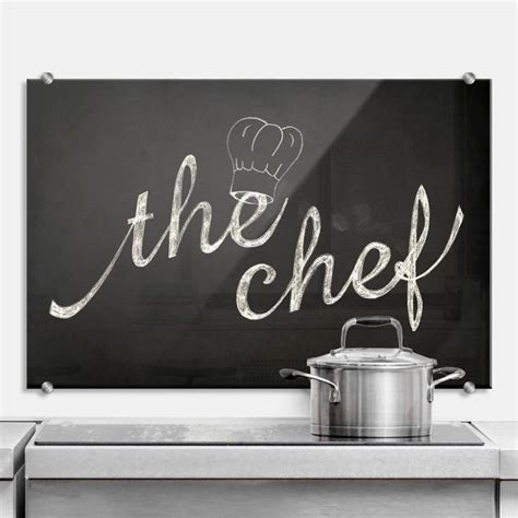 Crédence - The Chef   wall-art