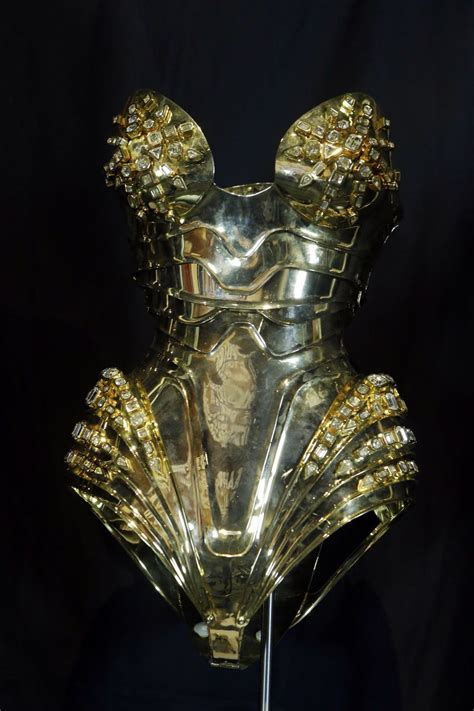 Thierry Mugler — Thierry Mugler's gold corset from the