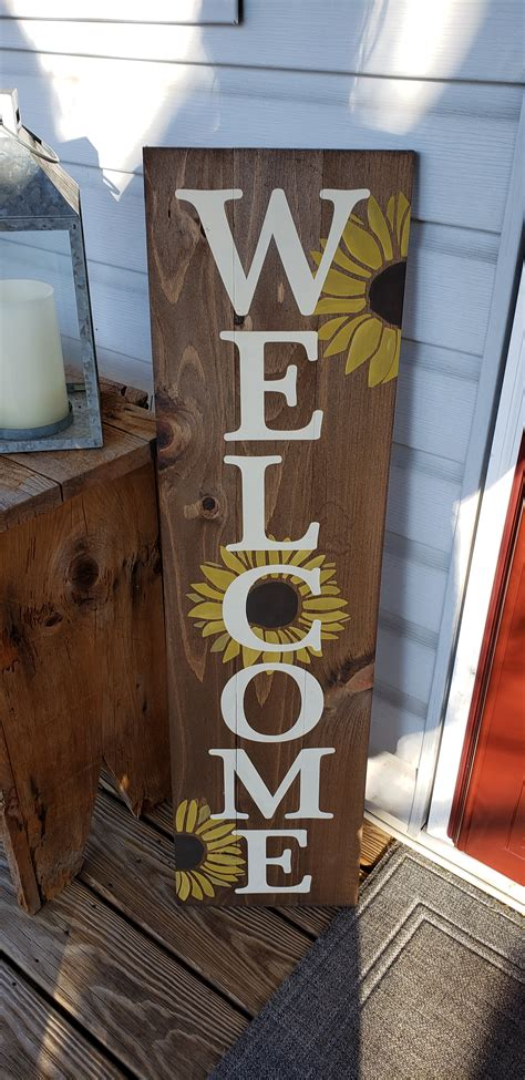 Tall Welcome Porch Sitter Sign