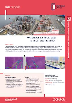 Materials and Structures in their Environment (C-ENG MSE