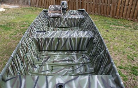 Camouflage 16' Jon Boat, Motor and Trailer - The Hull
