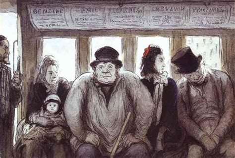 In the Omnibus, 1864 - Honore Daumier - WikiArt