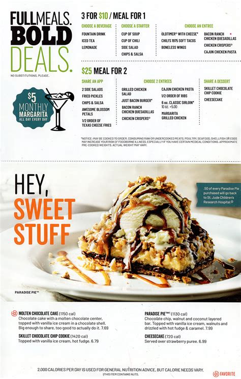 Chili's Grill & Bar Menu | Order Online | Delivery