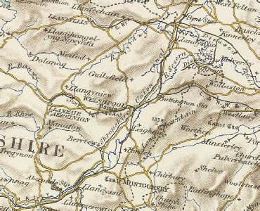 History of Welshpool, in Powys and Montgomeryshire   Map