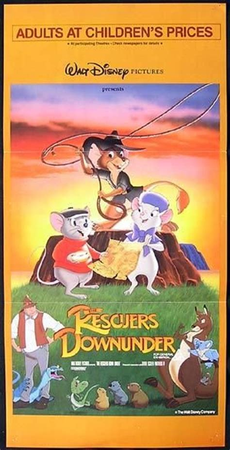 The Rescuers Down Under Poster | The rescuers down under