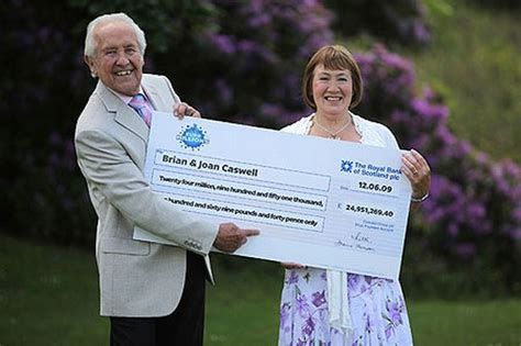 £25million EuroMillions lottery winner Brian Caswell says