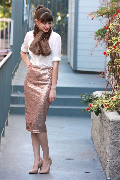 How to Wear: Sequin Midi Skirt - Jeans and a Teacup